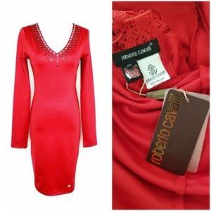 Roberto Cavalli Crystal Embellished Bodycon Dress